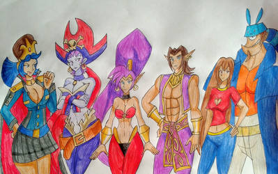 Shantae and Rose with Friends.