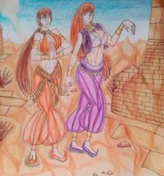 Ryu Hayabusa(fem) and Kasumi  Belly Dancers