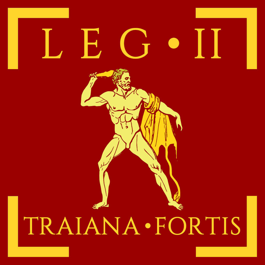 6ac781f97e9 Legio II Traiana Fortis vexillum by Aquelion on DeviantArt