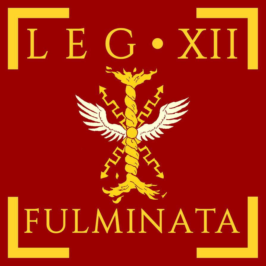 1647eb301e9 Legio XII Fulminata vexillum by Aquelion on DeviantArt