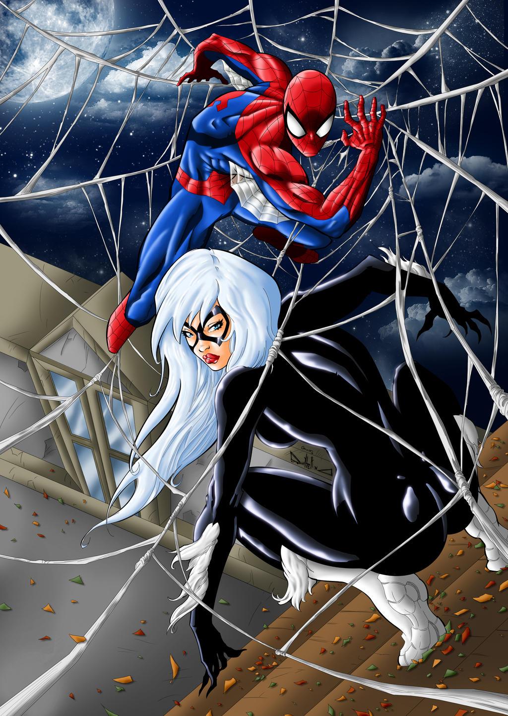 spiderman black cat - 753×1061