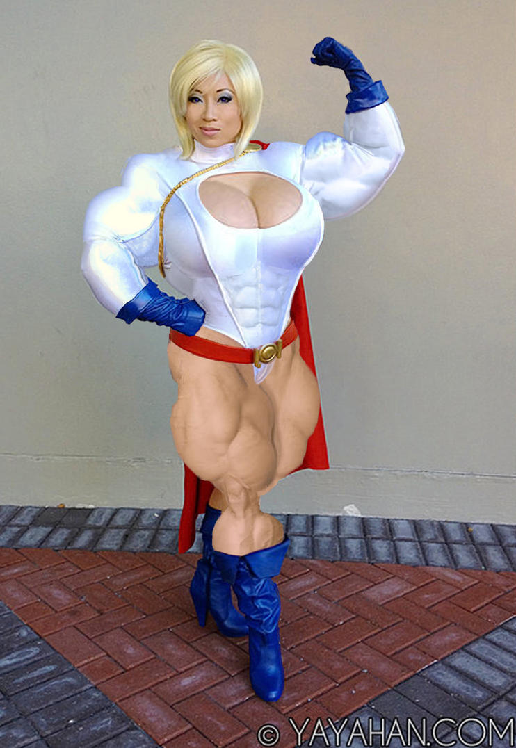 Buff Power Girl Cosplay by GrandMasterLucilious