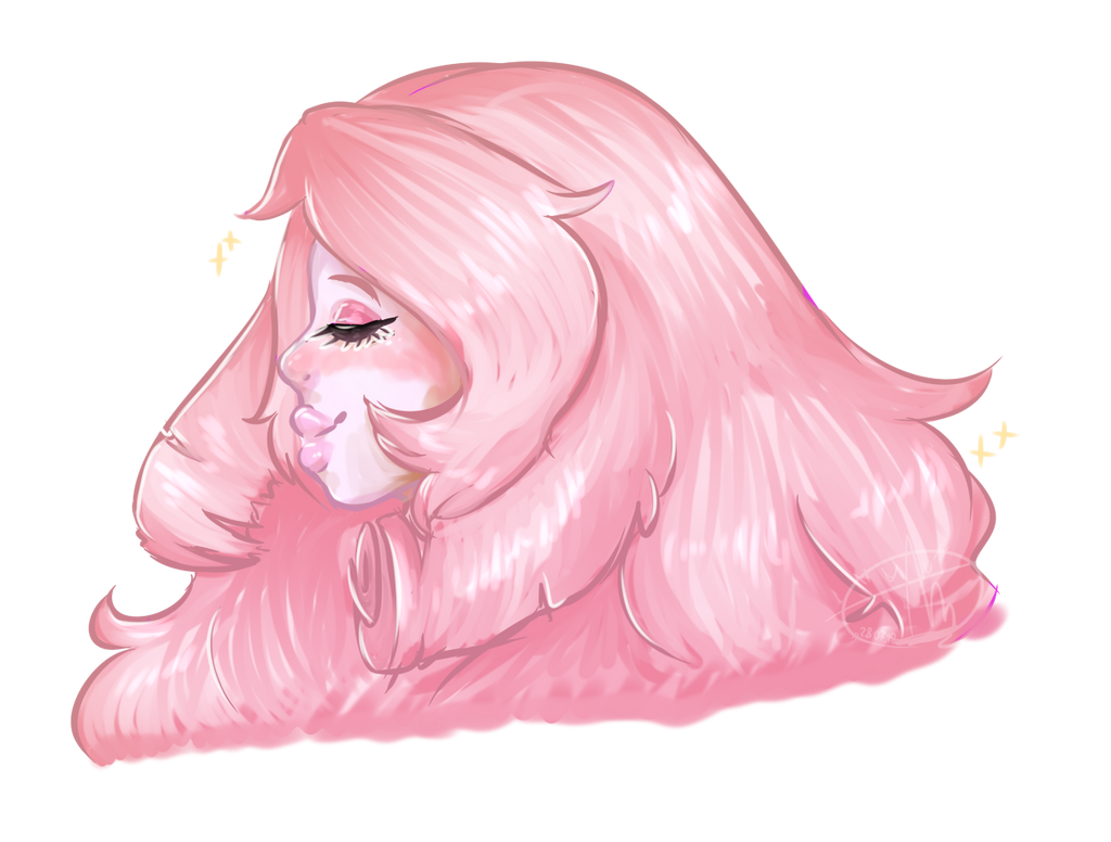 idk whats write here haha just Rose from Steven Universe ~~~~~~~~~ program;; Paint Tool Sai tablet;; huion new 1060 plus ~~~~~~~~~ (testing new style)