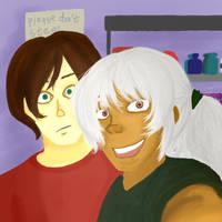 Darred and Vayden- Selfie by Tenjilover