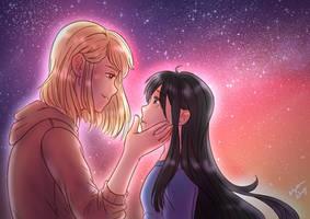 Stealing a Kiss   Speedpaint by GossArt1323