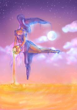 Harvest Goddess (Coloured Sketch)
