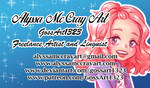 I MADE A BUSINESS CARD by GossArt1323