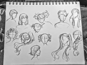 Hair Study by GossArt1323