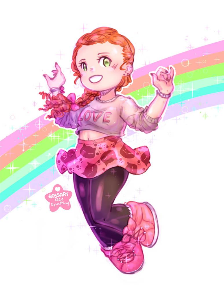 Cutie Rainbow Sketch   OOTD 5/31