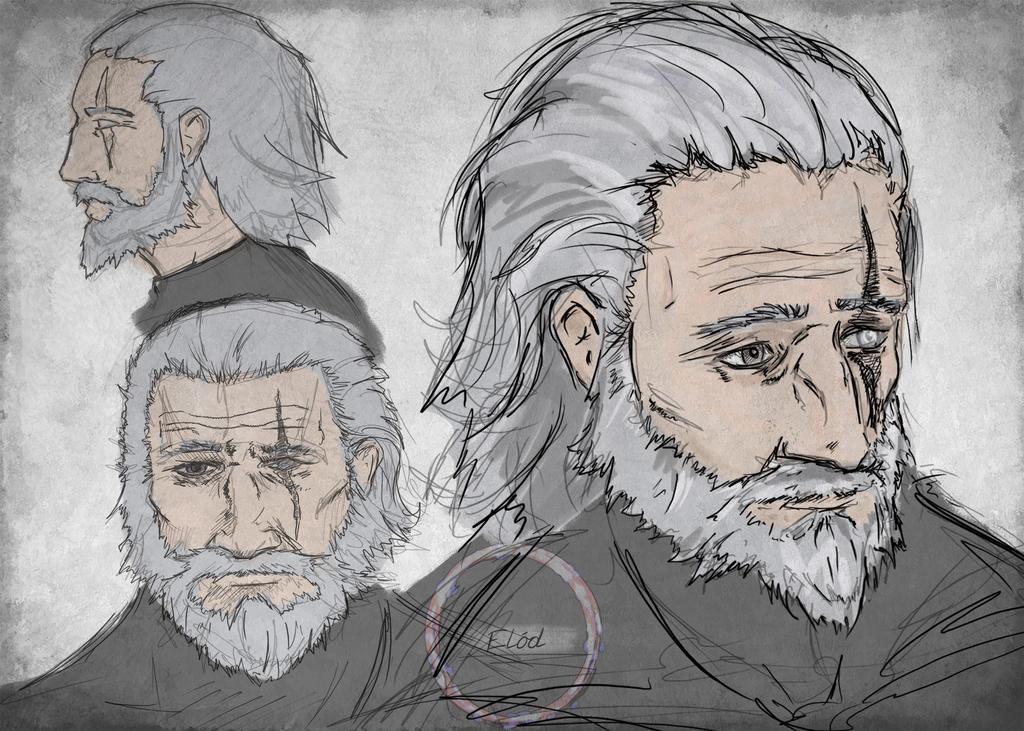 Reinhardt from Overwatch, head studies. by ElodDesign