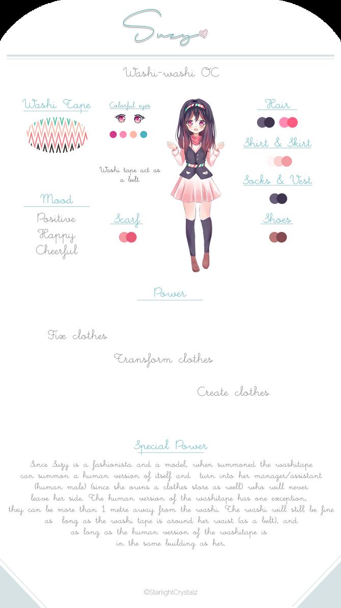 [WashiWashi OC] Suzy Reference Sheet by StarlightCrystalz