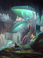 Iz'Kal Caverns by JamesCombridge