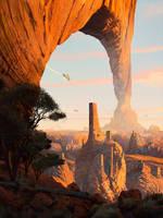 Iz'Kal desert city by JamesCombridge