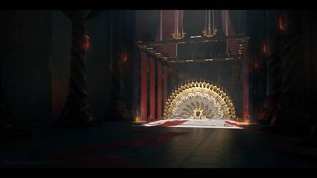 Salmrissa's throne by JamesCombridge