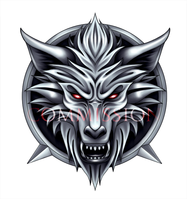 COMMISSION - wolf's head logo