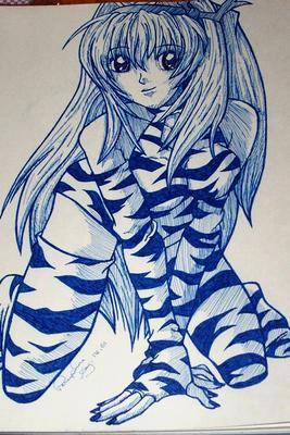 sexy tiger girl by Akiahara