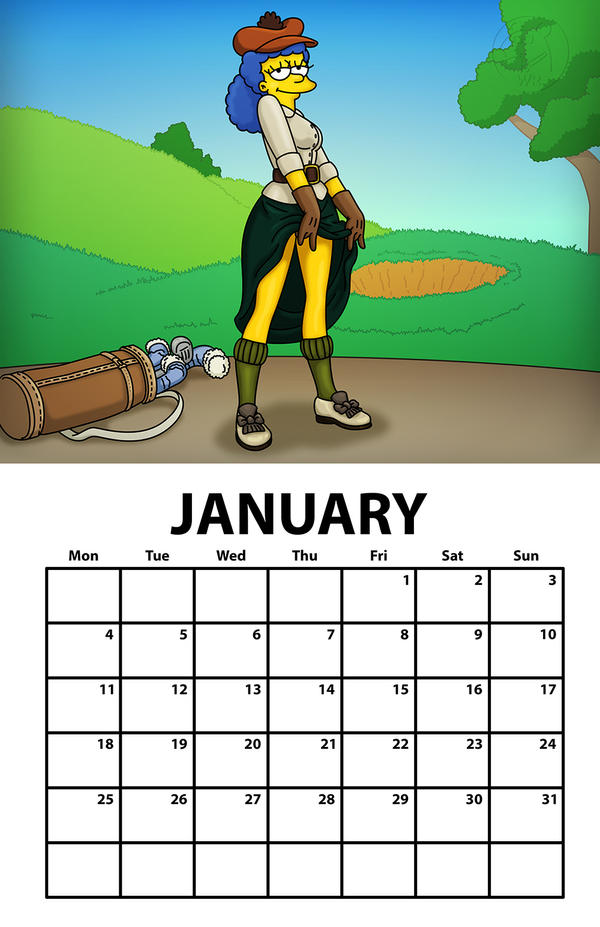 Marge Simpson Charity Chicks January By Wrongrat On Deviantart-7357