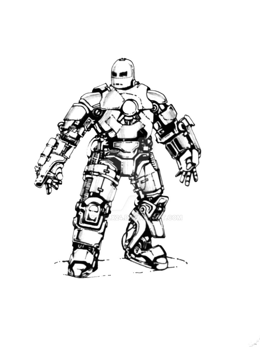 iron man mark 1 by marvelx24 - Iron Man Coloring Pages Mark