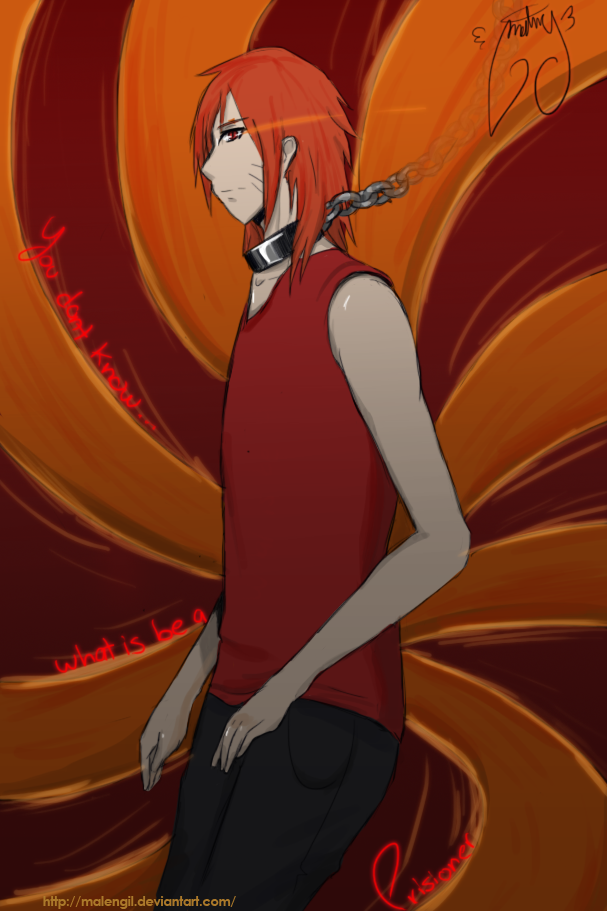 kyuubi human mode by malengil on DeviantArt