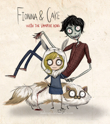 Fionna Y Cake with Vampire king