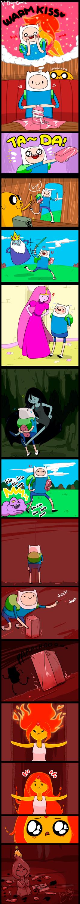 MiniComic: Finn x Flame Princess V-Day by malengil