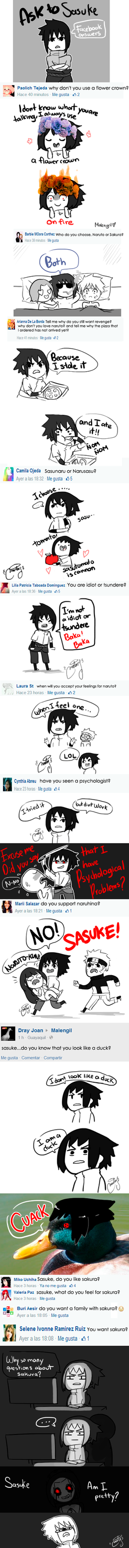 Ask to Sasuki facebook answers by malengil