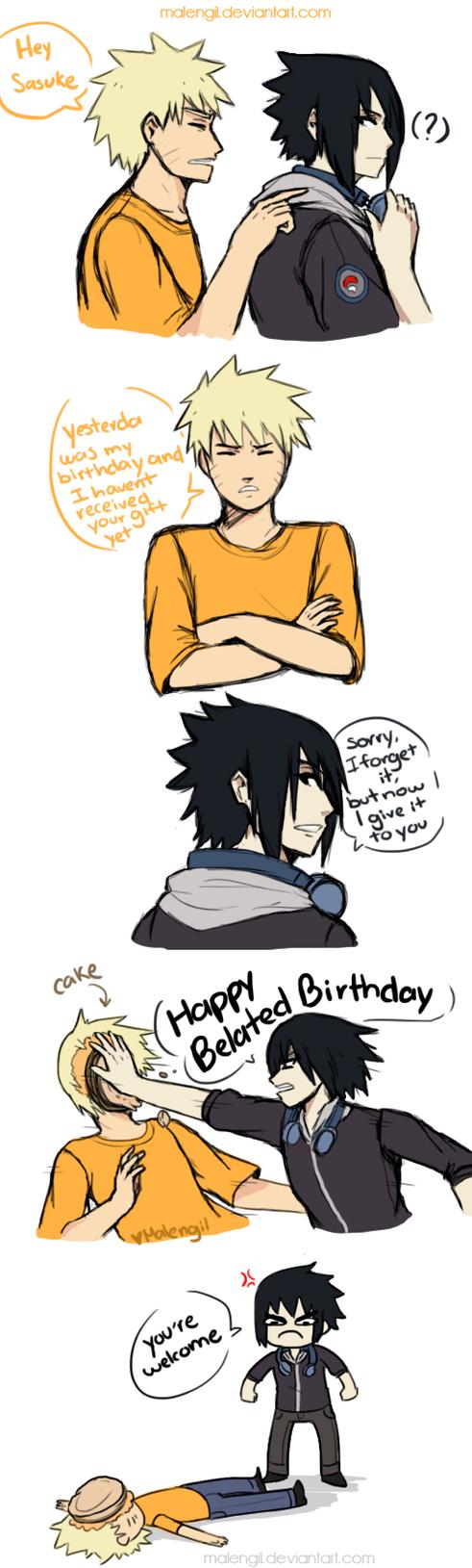 Happy birthday naruto by malengil