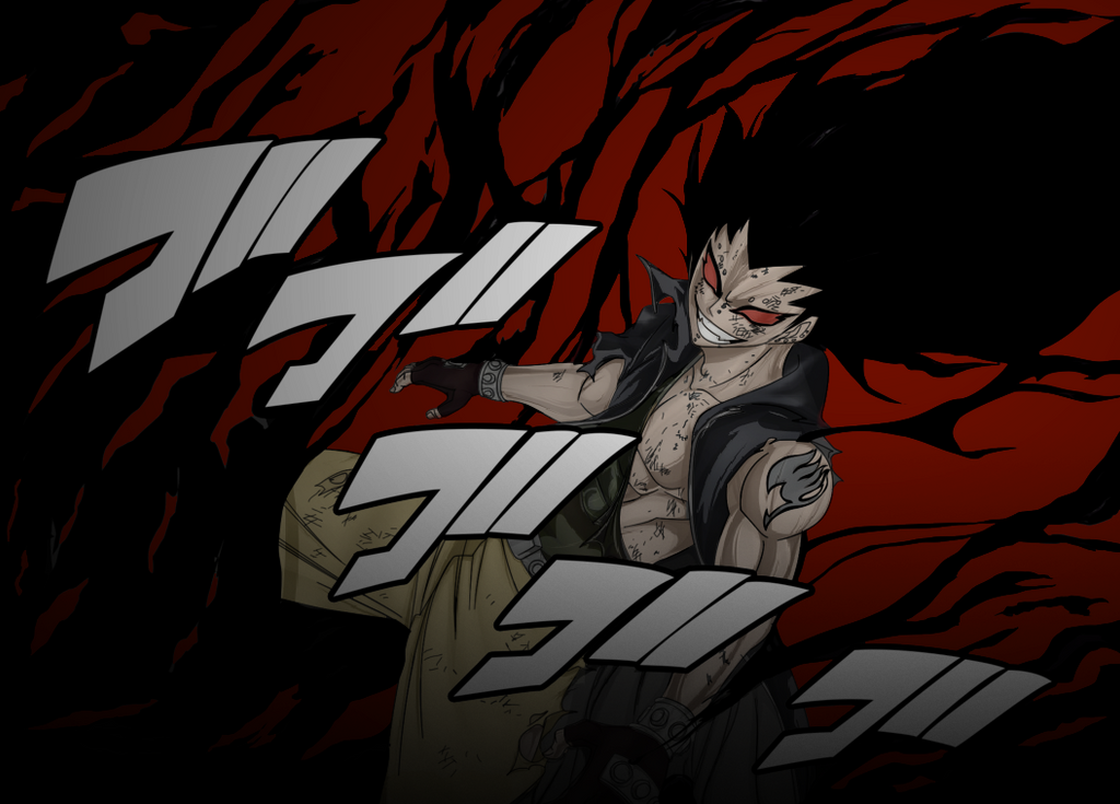Fairy Tail 318 Gajeel Iron Shadow Dragon by codzocker00