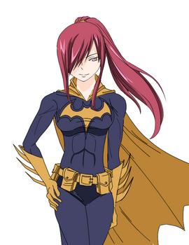 Erza as Batgirl