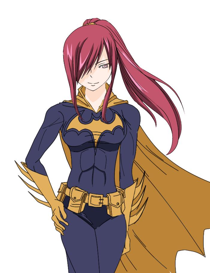 Erza as Batgirl by codzocker00