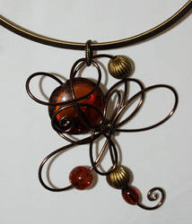brown necklace by trapus
