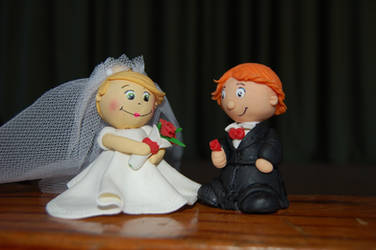 bride and groom by trapus