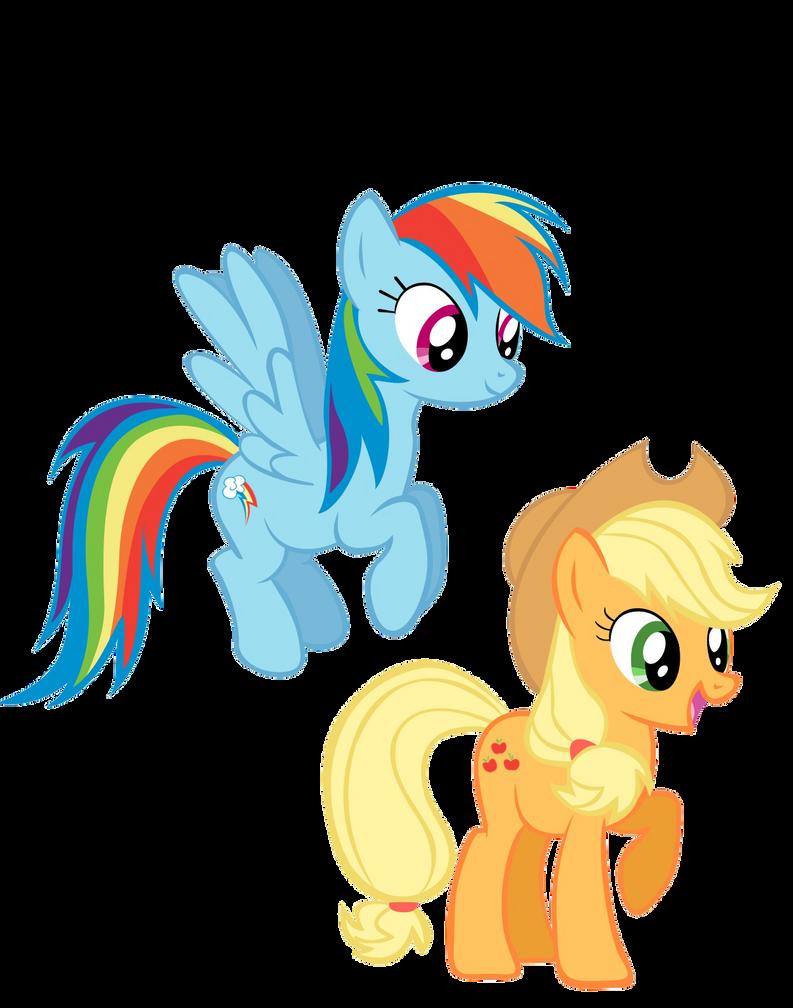 Rainbow Dash And Applejack wallpaper