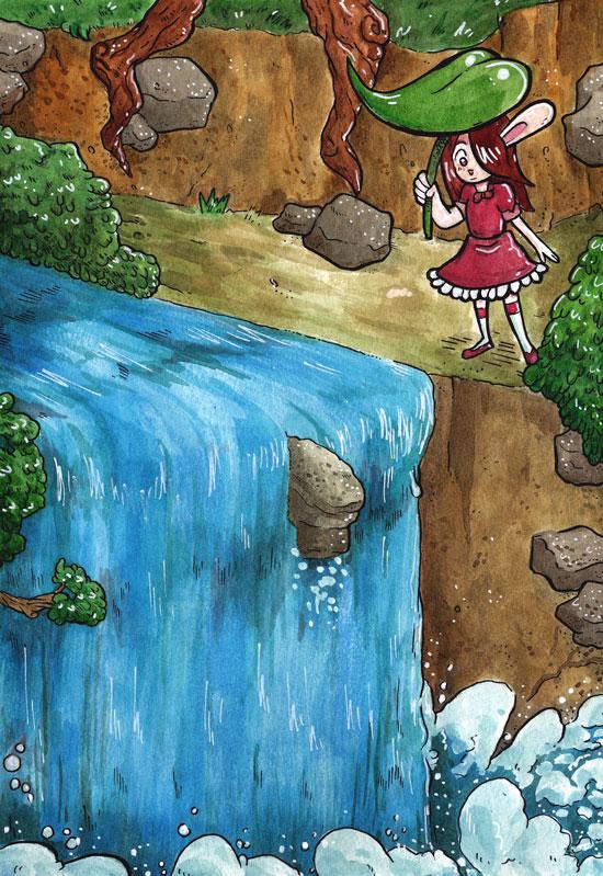 Bunny Falls by Lazereyes