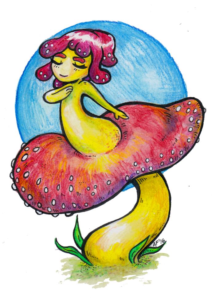 Mushroom Girl by Lazereyes