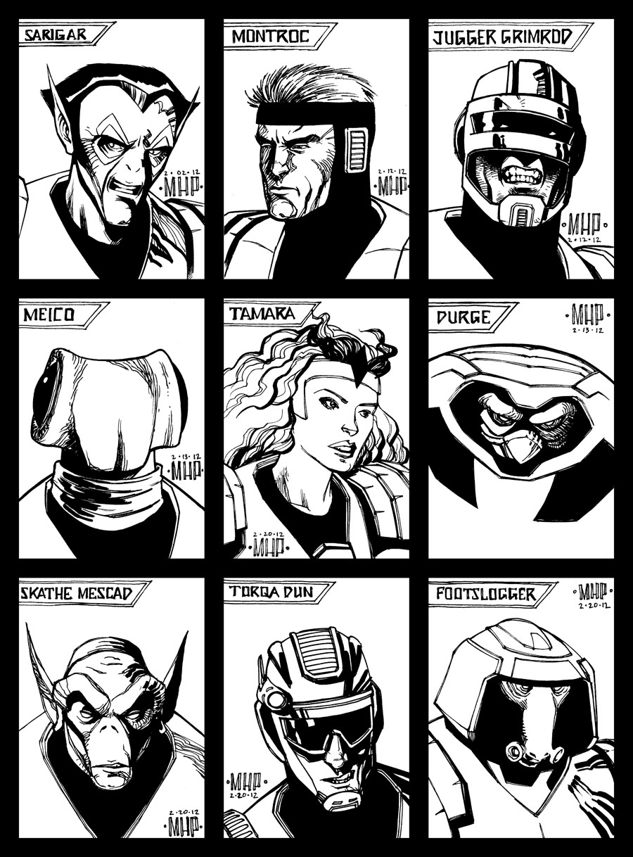 Sketch cards 12 - Alien Legion by PENICKart