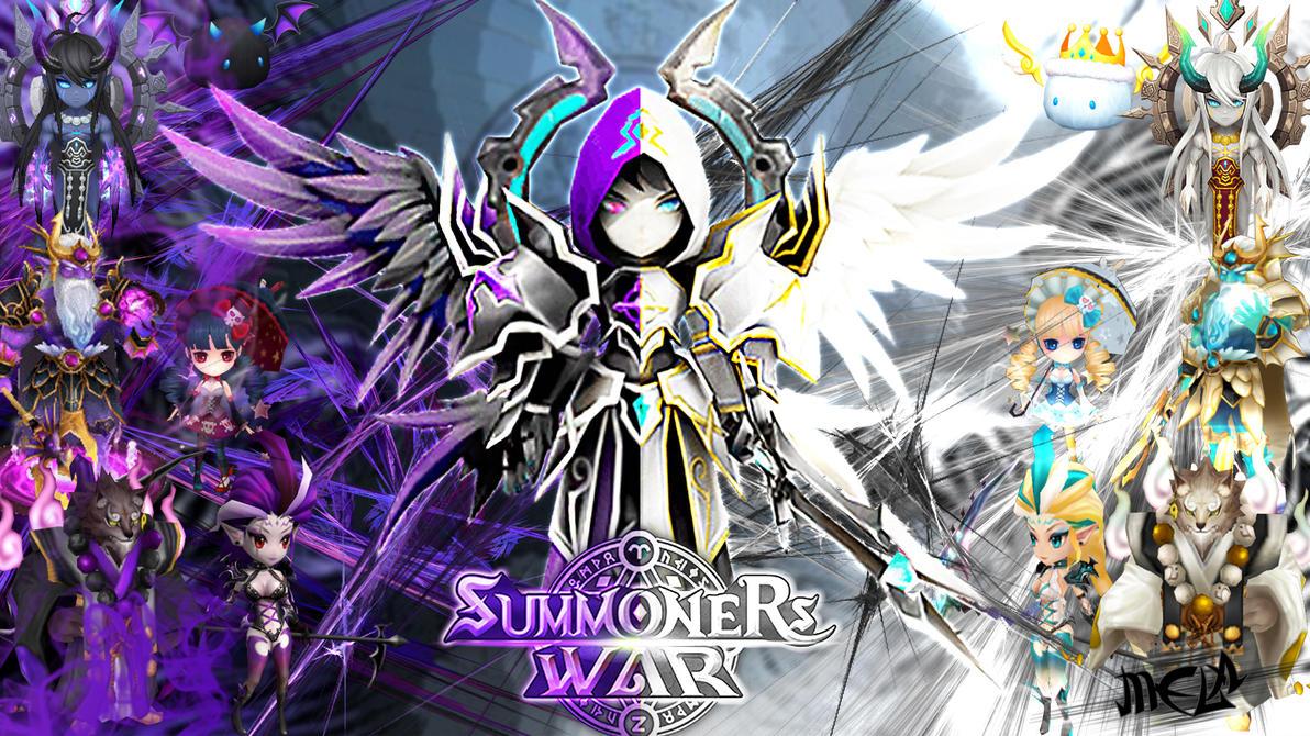 summoners war wallpaper  Summoners War Dark vs Light Wallpaper by scovicenza on DeviantArt