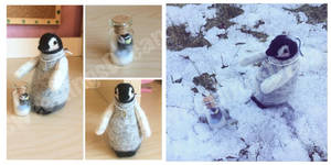 Pebble's The Jointed Penguin With Her Miniature