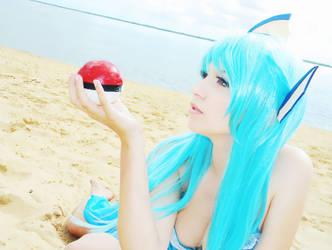 Vaporeon Cosplay (Gijinka ver.) Pokemon by usagiyuu