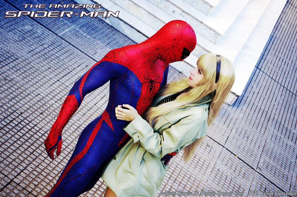 SpiderMan and Gwen Stacy by usagiyuu