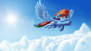 Dash over the clouds ( w\ sonic rainboom)