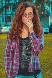 Smoking Girl. by Rikkysh