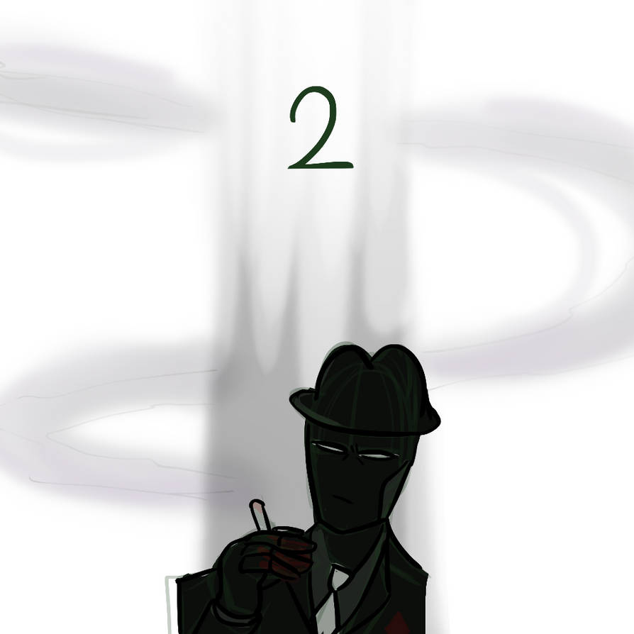 [Diamonds Droog is smoking. His hands have blood on them]