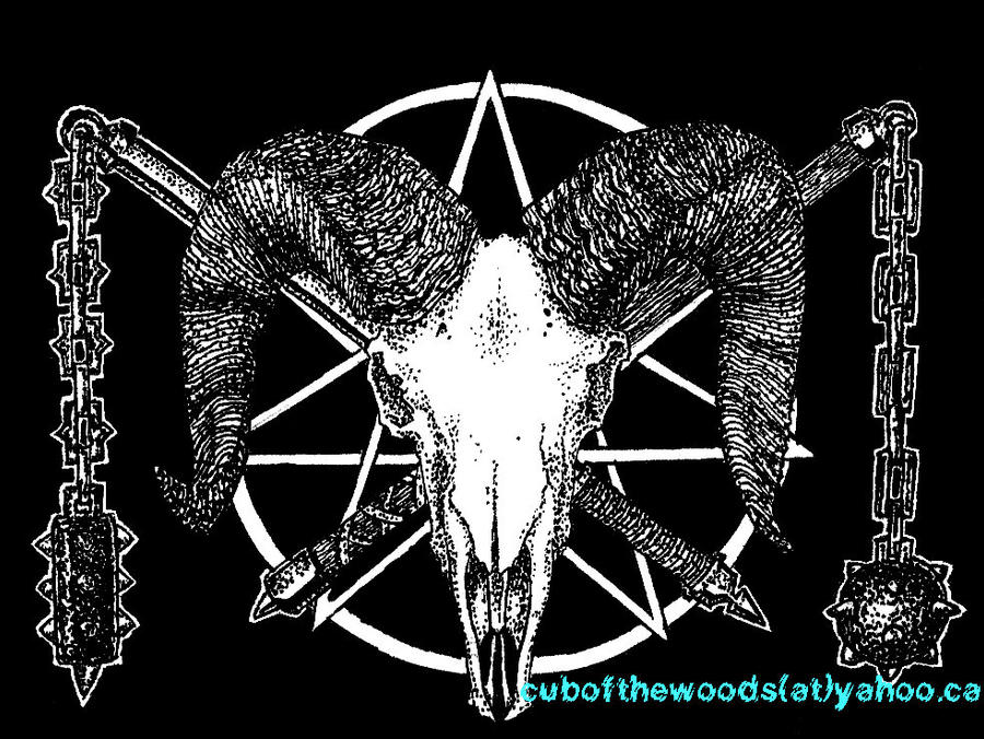 Flails + Big Horn Sheep Skull by cubofthewoods on DeviantArt
