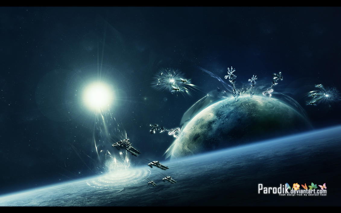 Wallpaper nr.14 spaceart by parodik