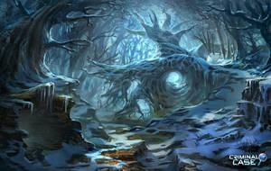 Creepy woods Background by lhebrardrobin