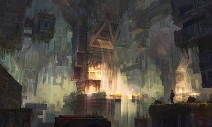 Ancient civilizations / Up and down connection by lhebrardrobin
