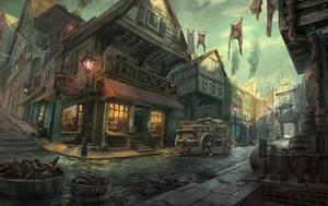 New heaven street by lhebrardrobin