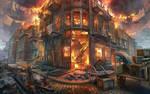 Street on fire