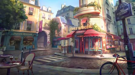 Paris street by lhebrardrobin